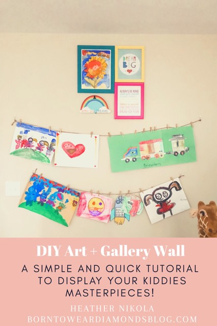DIY Art Wall + Gallery Wall